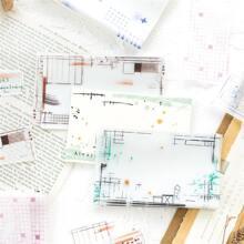 30sheets Random Pattern Message Paper
