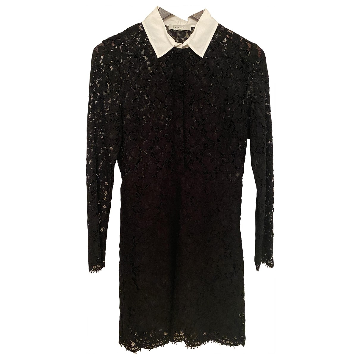 Sandro \N Black Lace dress for Women 2 0-5