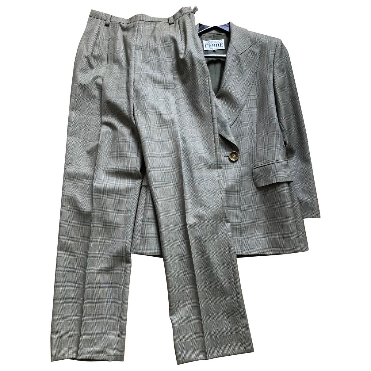 Gianfranco Ferré \N Green Wool jacket for Women 44 IT