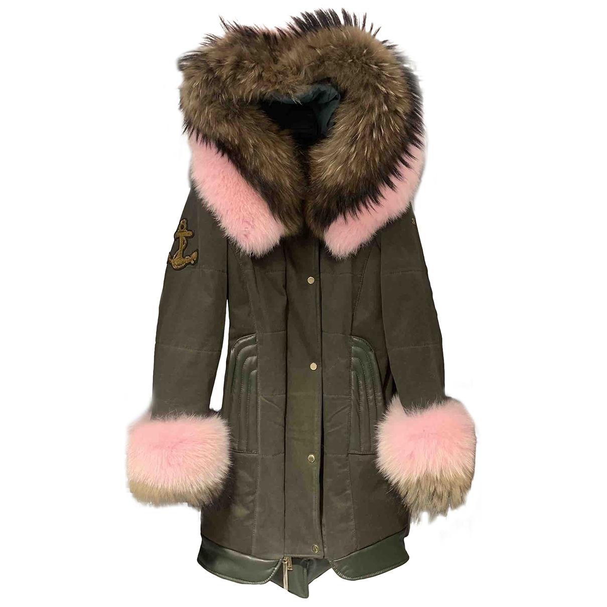 Non Signé / Unsigned \N Khaki Cotton coat for Women 40 IT