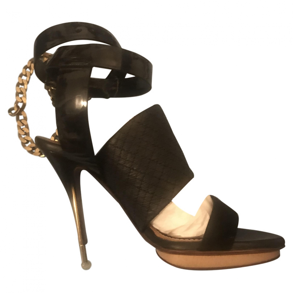 Lanvin \N Black Leather Heels for Women 38 EU