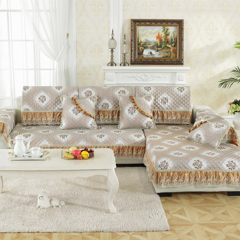 Floral Pattern Country Style Soft Machine Washable Sofa Covers