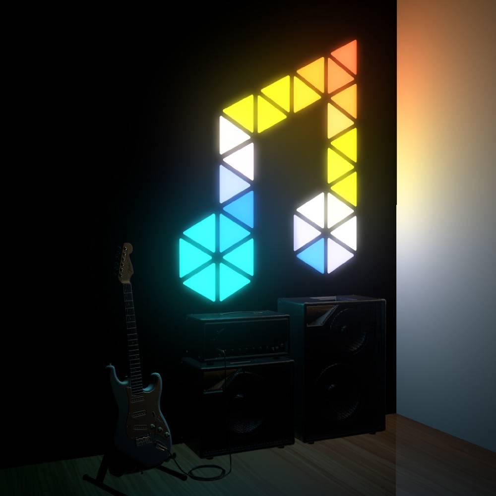 27pcs Creative Triangle Modular Touch-sensitive Light For Indoor Decoration APP Control - EU Plug