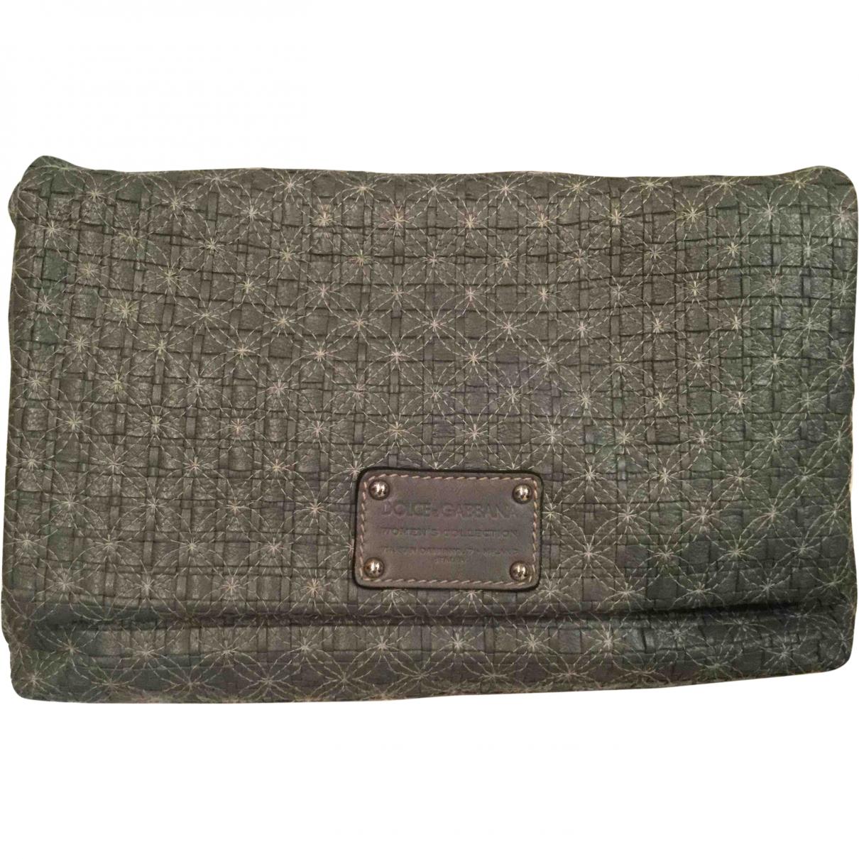 Dolce & Gabbana \N Grey Leather Clutch bag for Women \N