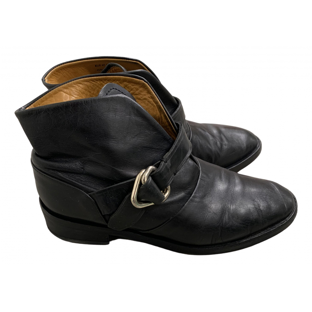 & Stories \N Black Leather Ankle boots for Women 40 EU