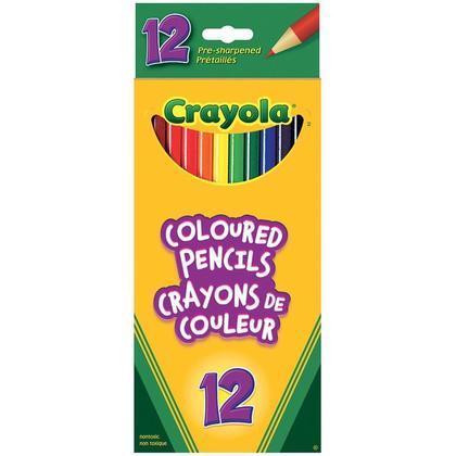 Crayola@ Pre-sharpened Coloured Pencils - 12 Colours 469114