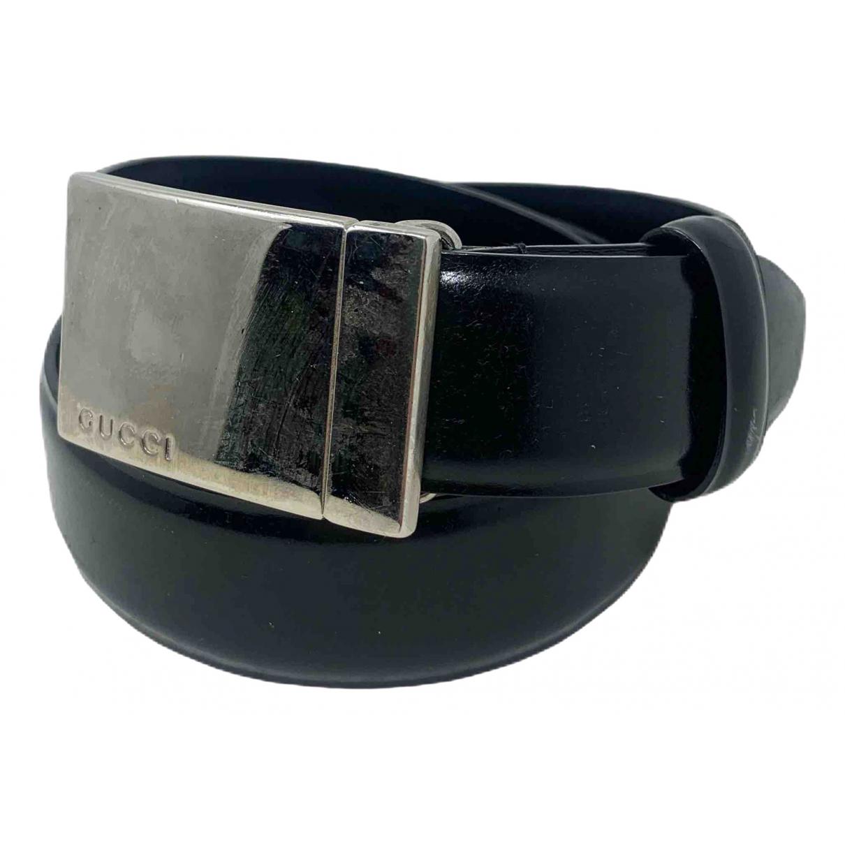 Gucci \N Black Leather belt for Women 90 cm