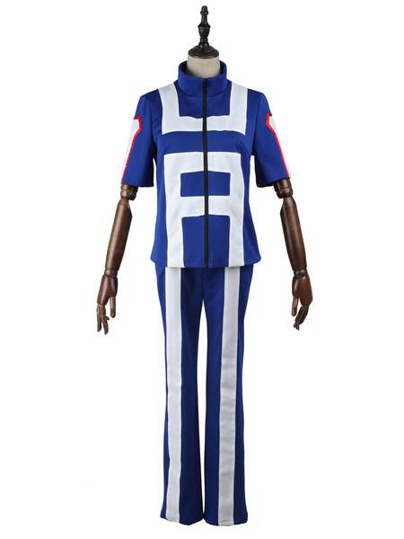 Milanoo My Hero Academia Cosplay Blue Uniform Cloth BNHA Cosplay Costumes