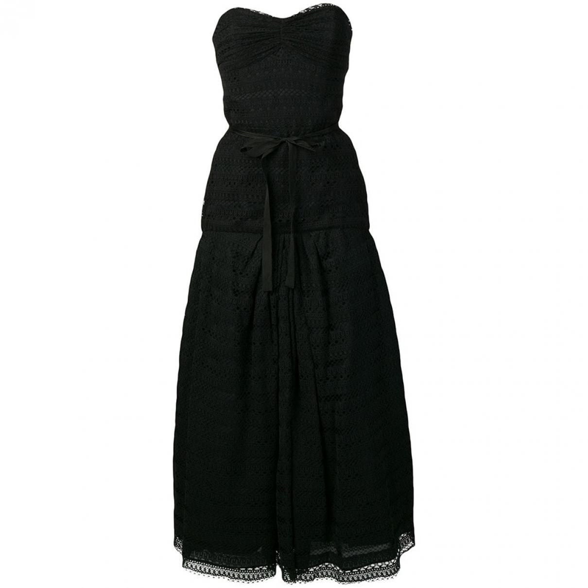 Monique Lhuillier \N Black Cotton dress for Women 10 UK