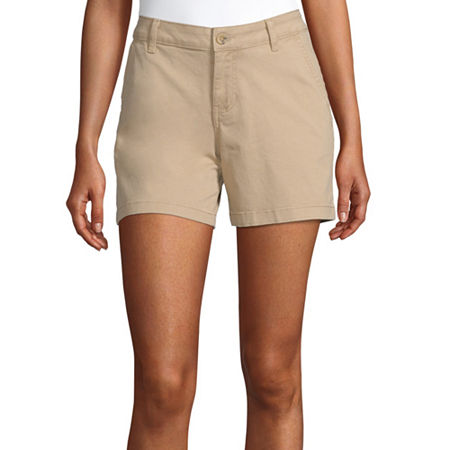 a.n.a Womens 5'' Chino Short, 4 , Yellow