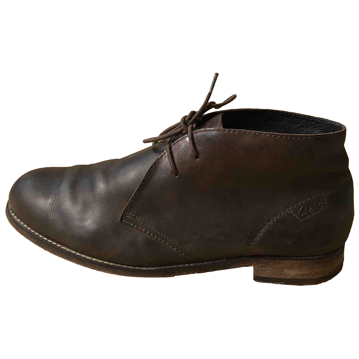 Clarks \N Brown Leather Flats for Men 42 EU