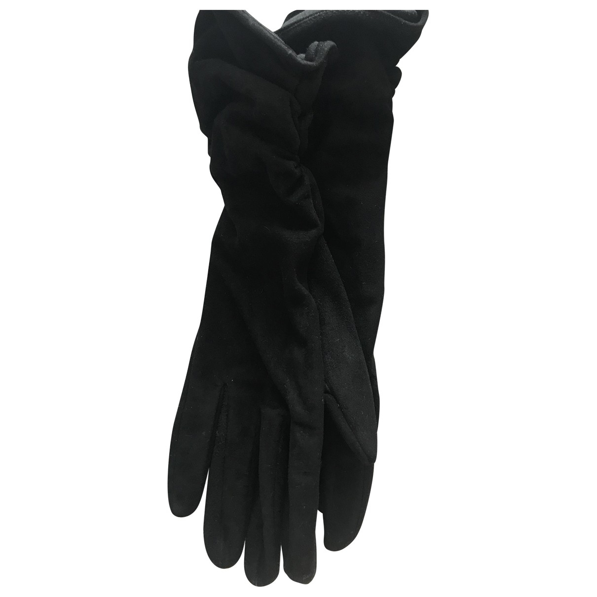Sergio Rossi \N Black Leather Gloves for Women 6.5 Inches