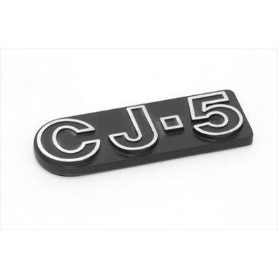 Omix-ADA CJ5 Emblem (Black/Chrome) - DMC-5455179