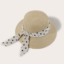 Toddler Girls Polka Dot Straw Hat