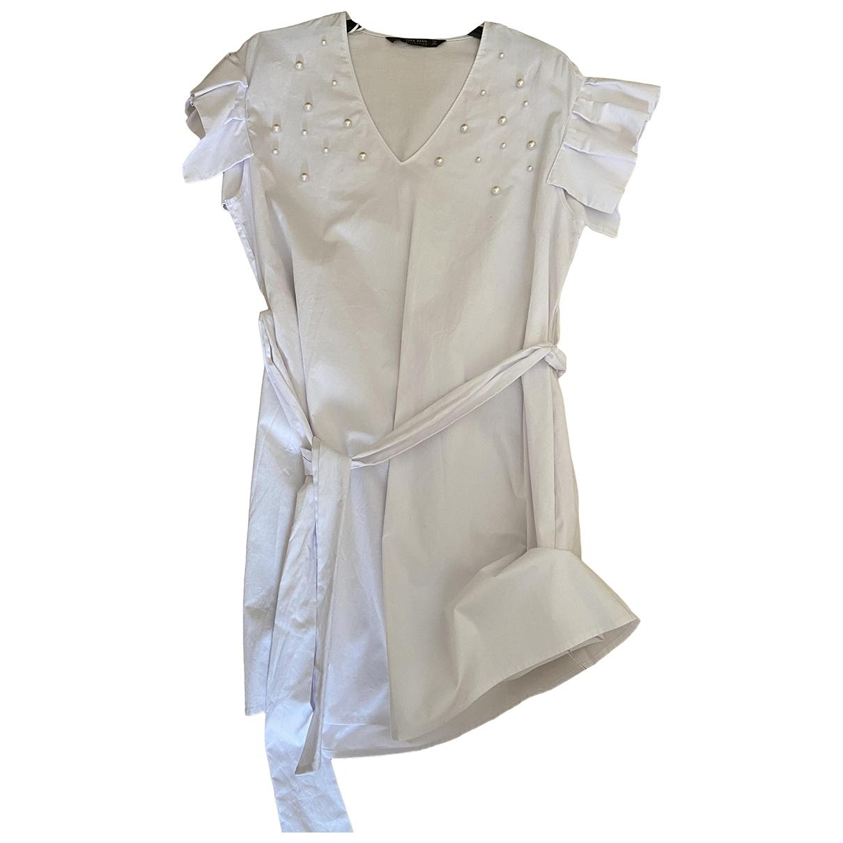 Zara \N White Cotton dress for Women S International