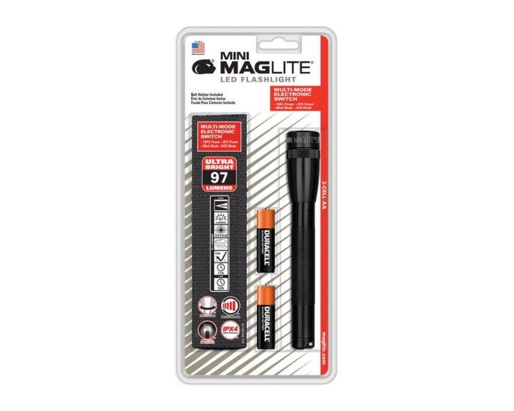 MagLite SP2201HJ Mini LED Flashlight Blister Pack - Black
