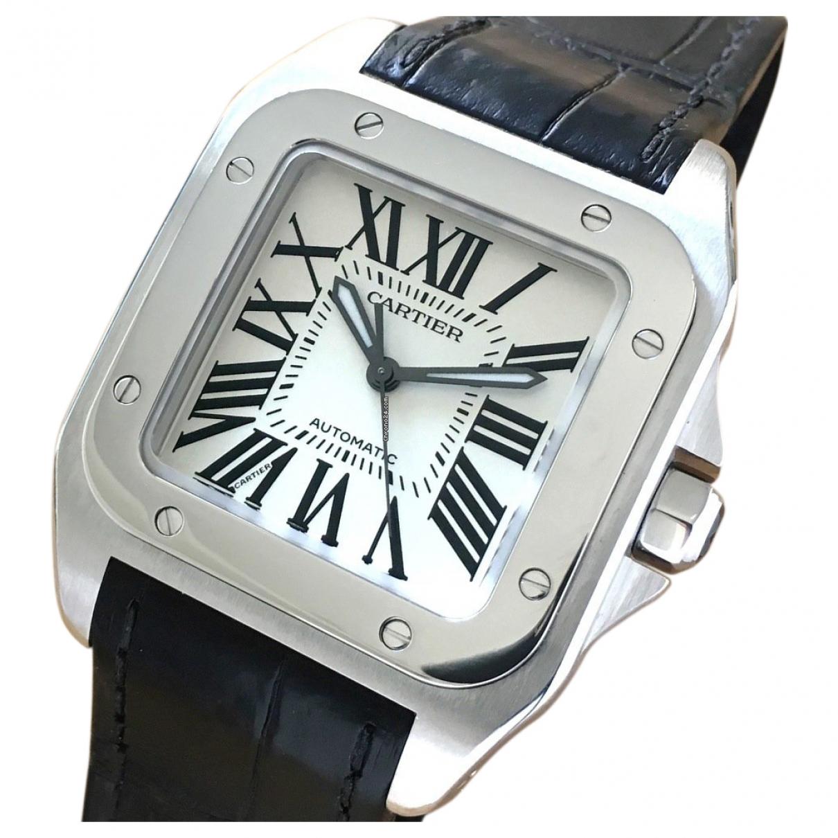 Cartier Santos 100 XL White Steel watch for Men \N