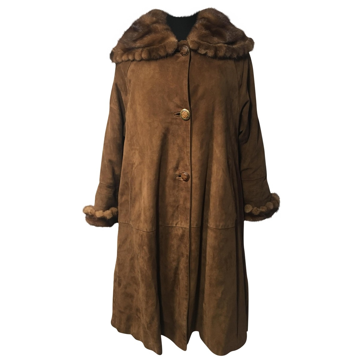 Non Signé / Unsigned \N Brown Mink coat for Women 38 IT