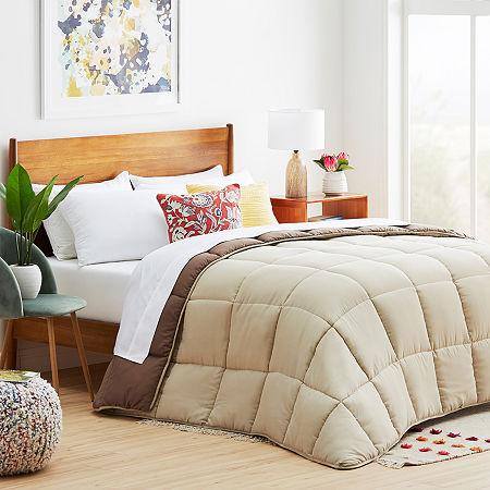 Linenspa Reversible Down Alternative Comforter, One Size , Beige
