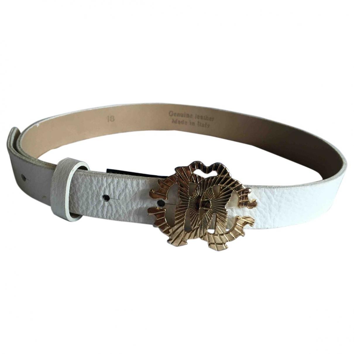 Roberto Cavalli \N White Leather belt.Suspenders for Kids \N