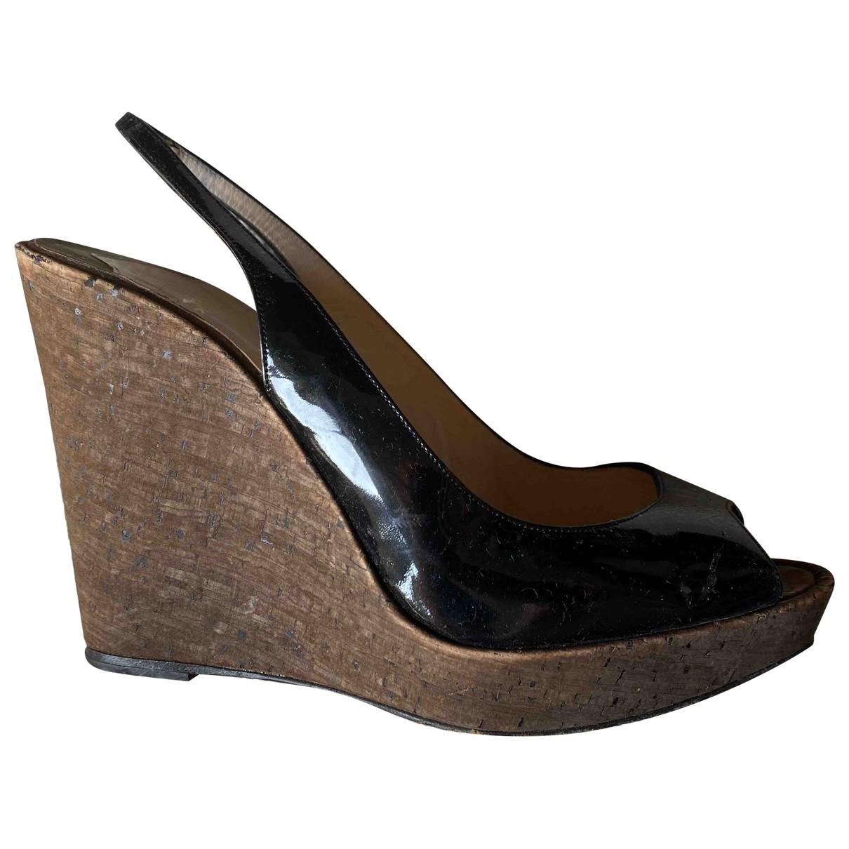 Christian Louboutin \N Black Patent leather Heels for Women 40 EU