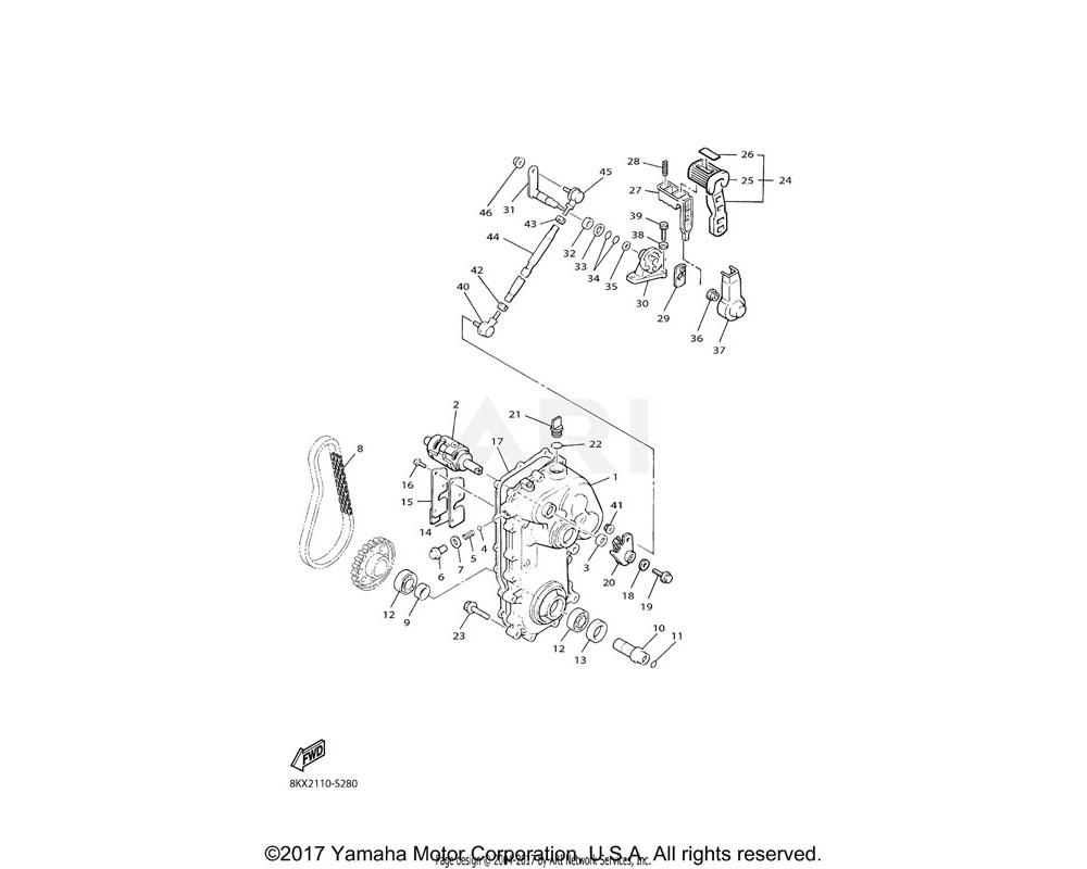 Yamaha OEM 89N-18130-01-00 SHIFT SHAFT ASSY