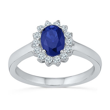 Womens Lab Created Blue Sapphire Sterling Silver Cocktail Ring, 9 , No Color Family