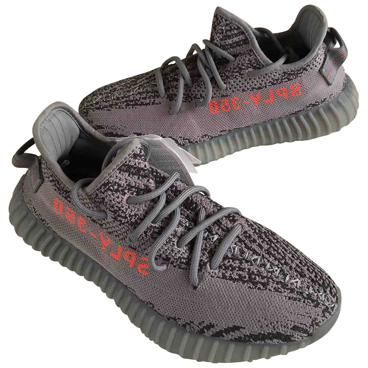 Yeezy X Adidas Boost 350 V2 Grey Trainers for Women 7 US
