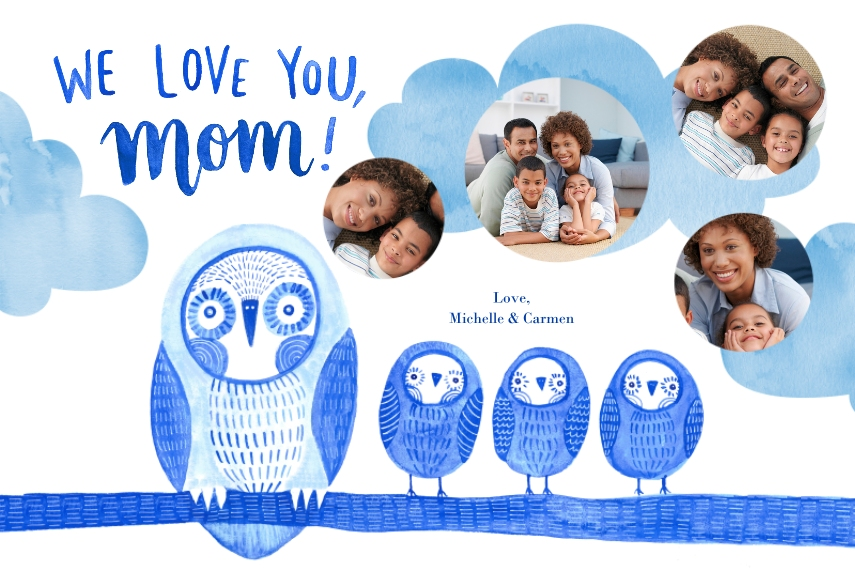 Family + Friends 12x18 Poster, Home Décor -Owl Little Family