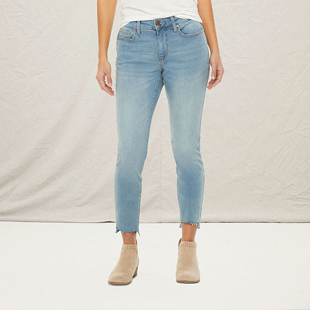 a.n.a-Tall Womens Mid Rise Skinny Jean, 18 Tall , Blue