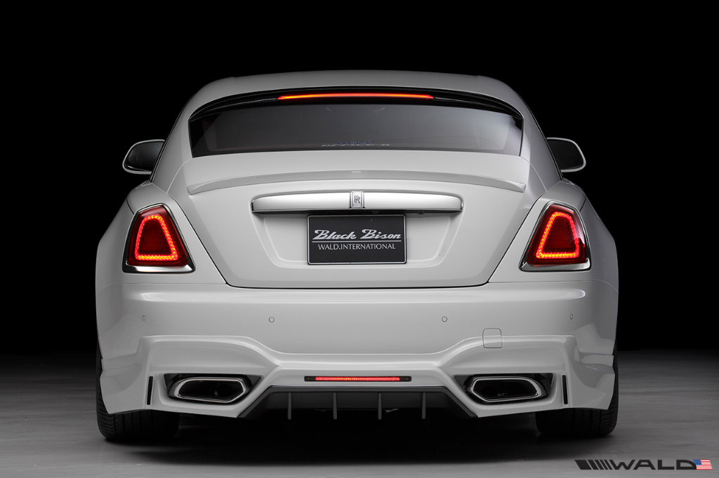 Wald USA RRW.RB.14 Black Bison Edition Rear Bumper w/ Exhaust Tips Rolls Royce Wraith Series I 14-16