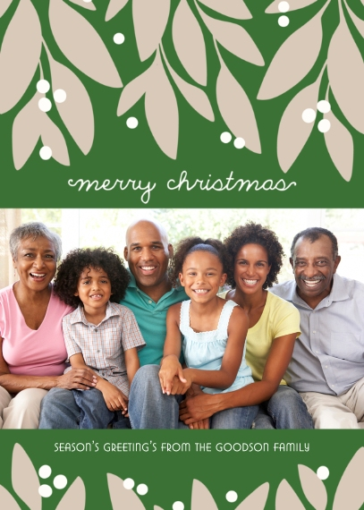 Christmas Photo Cards 5x7 Folded Cards, Premium Cardstock 120lb, Card & Stationery -Garland Christmas