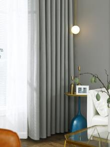 1pc Solid Blackout Curtain