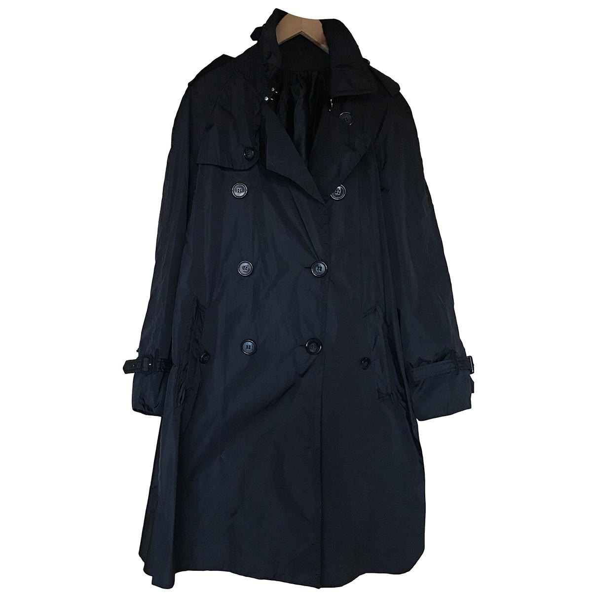 Moncler \N Navy Trench coat for Women 12 UK