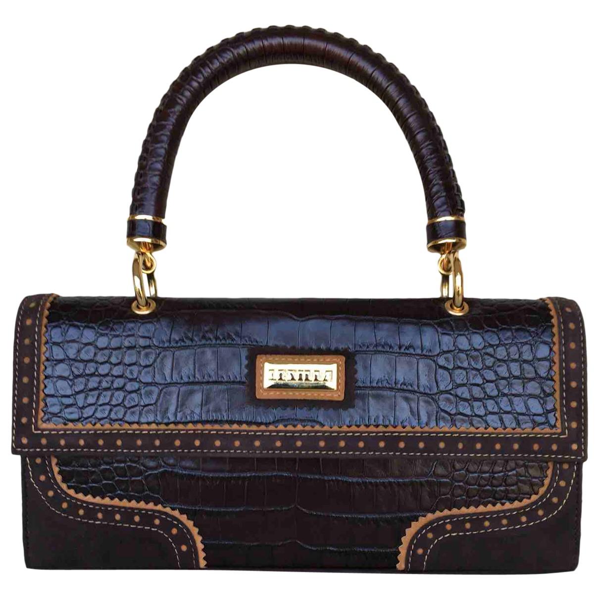 Le Silla \N Brown Leather handbag for Women \N