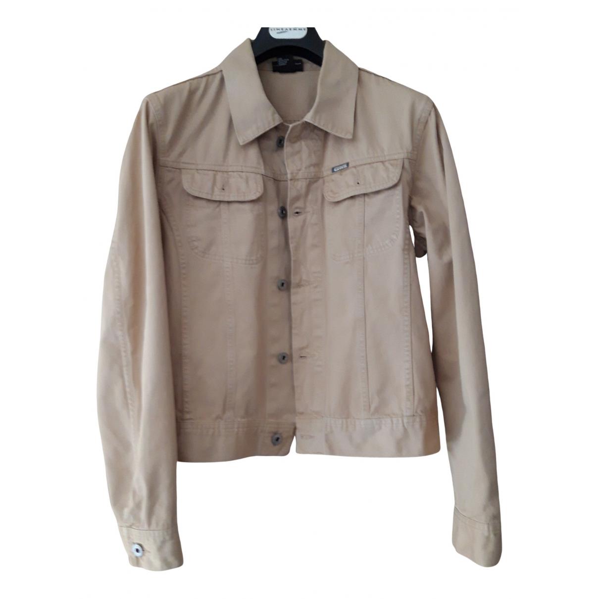 Diesel - Veste   pour femme en coton - beige