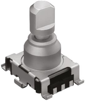 Alps Alpine 9 Pulse Incremental Mechanical Rotary Encoder with a 5.975 mm Flat Shaft (Not Indexed), SMD