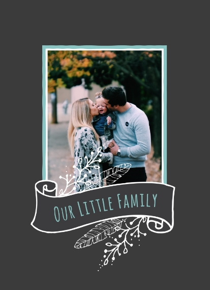 Family 5x7 Glass Print, Home Décor -Our Little Family