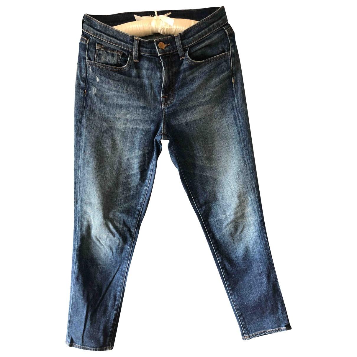 J Brand \N Blue Cotton Jeans for Women 37 FR