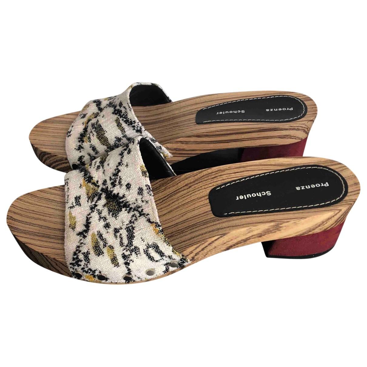 Proenza Schouler \N Beige Cloth Mules & Clogs for Women 37.5 EU