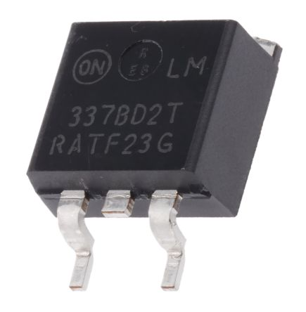 ON Semiconductor , -37 → -1.2 V Linear Voltage Regulator, 1.5A, 1-Channel Negative, Adjustable 3-Pin, D2PAK