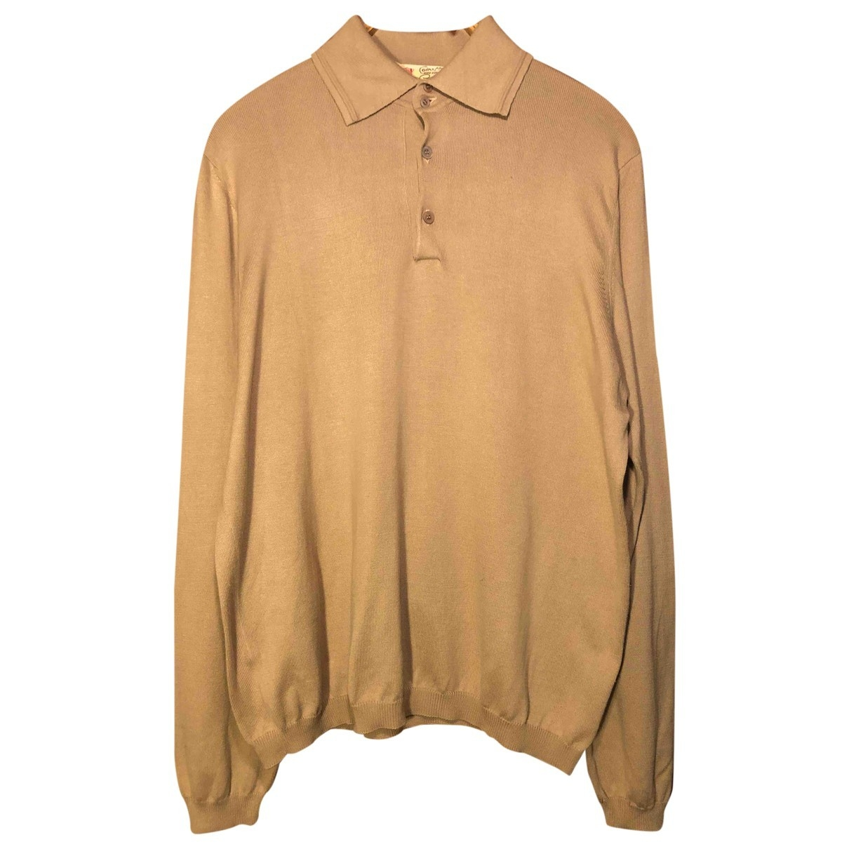 Non Signé / Unsigned \N Beige Cotton Polo shirts for Men L International