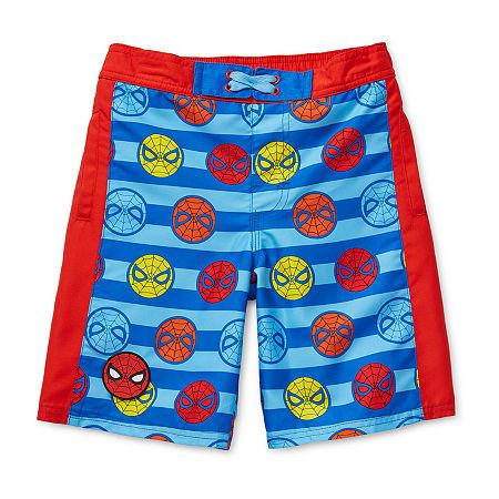 Disney Collection Little & Big Boys Marvel Swim Trunks, 4 , Blue