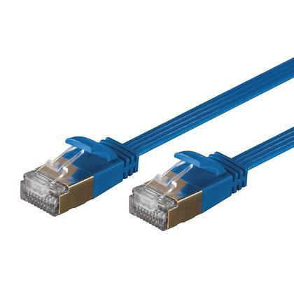 SlimRun™ Cat6A 36AWG S/STP Câble Réseau Ethernet - Bleu - Monoprice® - 30pi