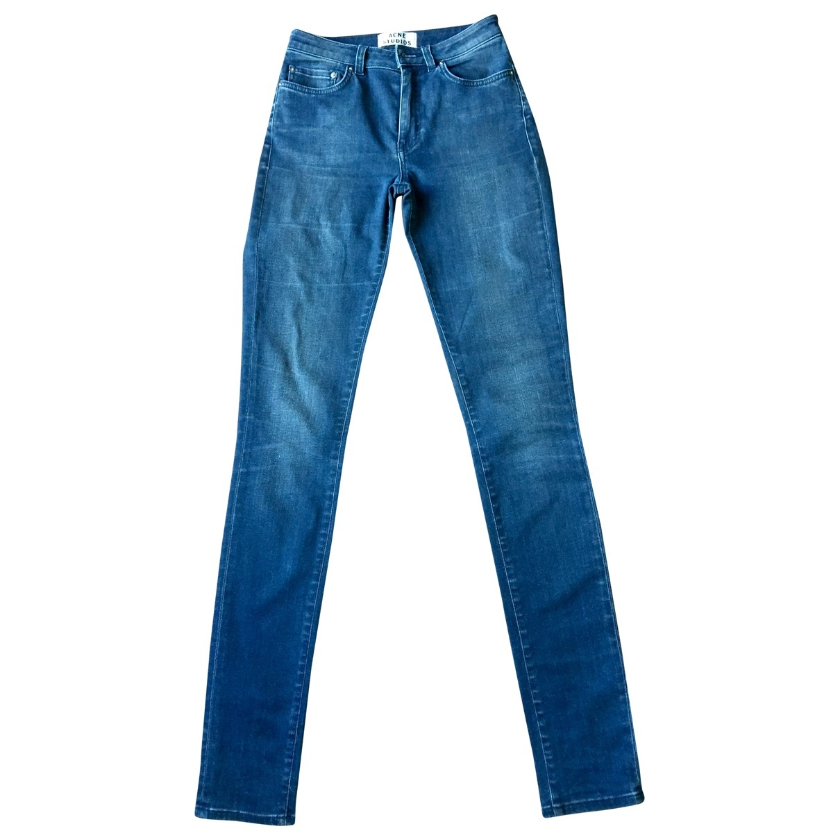Acne Studios \N Blue Cotton - elasthane Jeans for Women 27 US