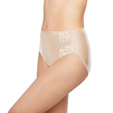Bali Essentials Double Support Knit High Cut Panty-Dfdbhc, 9 , Beige