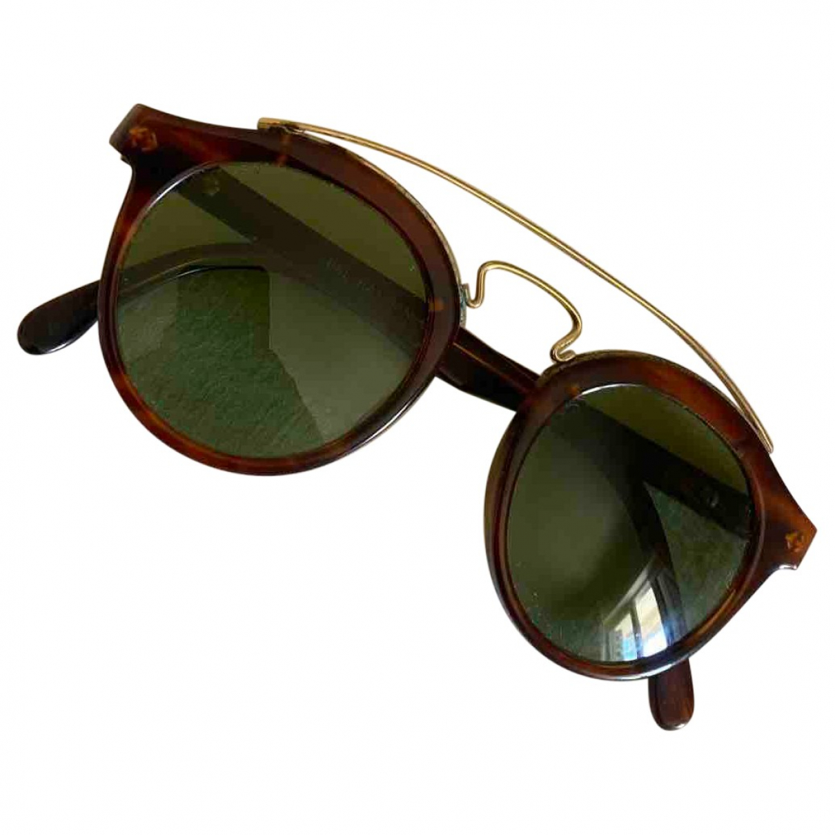 Ray-ban Round Brown Sunglasses for Men \N