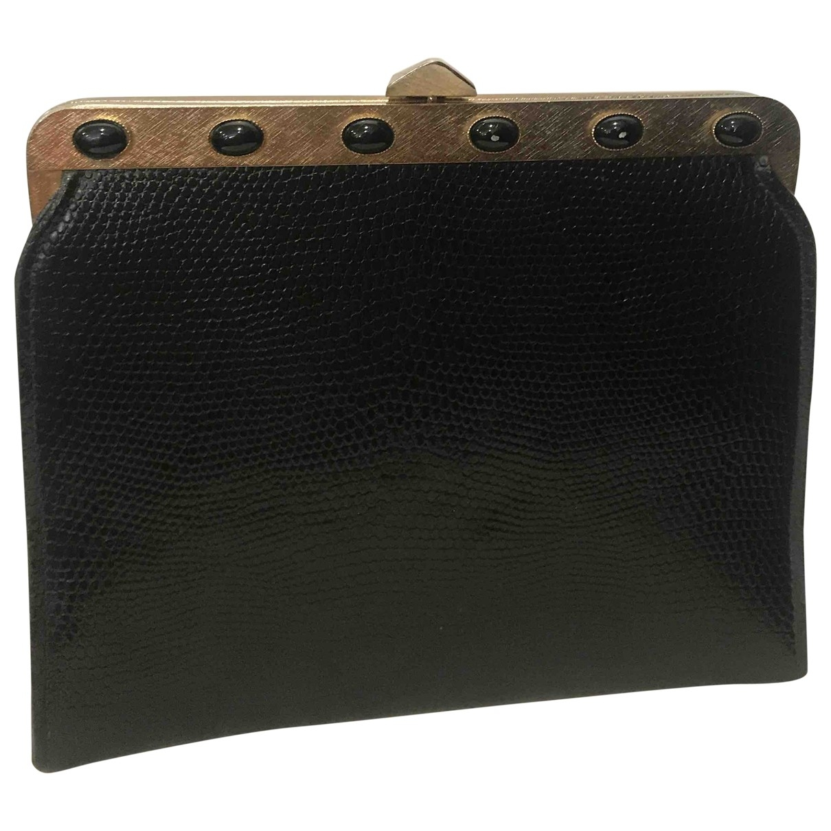 Non Signé / Unsigned \N Black Metal Clutch bag for Women \N