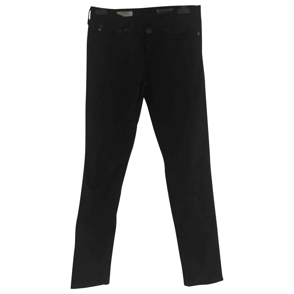 Adriano Goldschmied \N Black Cotton - elasthane Jeans for Women 25 US