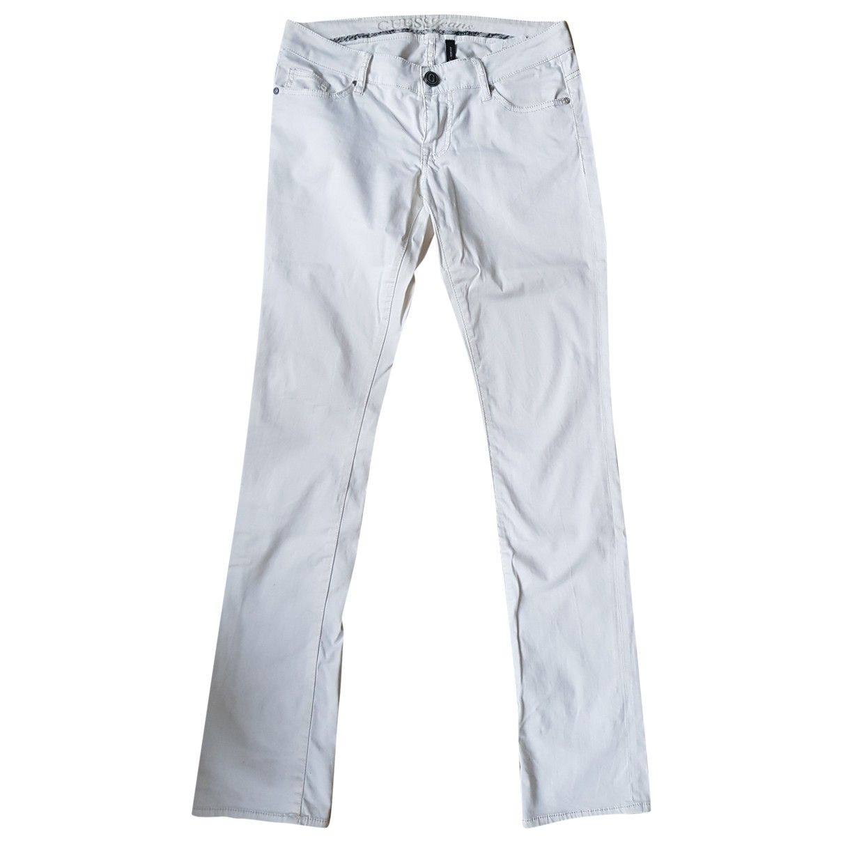 Guess \N White Cotton - elasthane Jeans for Women 28 US
